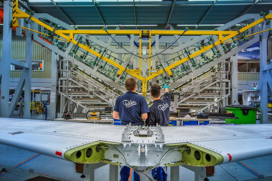 Falcon jet rudder elevator structural test