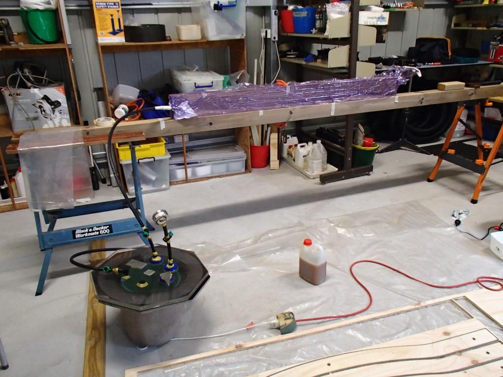 Polyurethane bonded beam